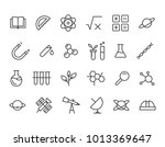 simple set of science related... | Shutterstock .eps vector #1013369647