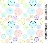 seamless pattern of colored...   Shutterstock .eps vector #1013386237