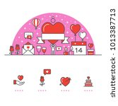 valentine's day banner and... | Shutterstock .eps vector #1013387713