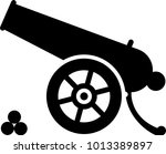 cannon icon  weapon icon  old...   Shutterstock .eps vector #1013389897