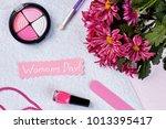 women's day congratulations...   Shutterstock . vector #1013395417
