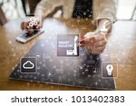 smart industry. industrial and... | Shutterstock . vector #1013402383