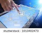 industry 4.0 concept  smart... | Shutterstock . vector #1013402473