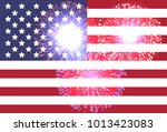 abstract image of the american... | Shutterstock .eps vector #1013423083