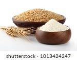wheat flour bunch of wheat ears ... | Shutterstock . vector #1013424247