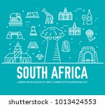 set of south africa country... | Shutterstock .eps vector #1013424553