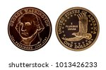 us one dollar coin   george... | Shutterstock . vector #1013426233