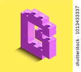 3d isometric pink letters from... | Shutterstock .eps vector #1013433337