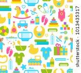 toys for children seamless...   Shutterstock .eps vector #1013435317