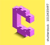 3d isometric pink letters from... | Shutterstock .eps vector #1013435497