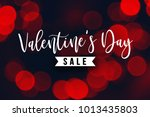 valentine's day sale holiday... | Shutterstock . vector #1013435803