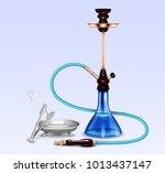 hookah water pipe hubbly bubby... | Shutterstock .eps vector #1013437147