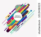 abstract background. vector... | Shutterstock .eps vector #1013438323