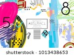 abstract universal art web... | Shutterstock .eps vector #1013438653