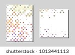 multicolored dots vector banner ... | Shutterstock .eps vector #1013441113