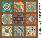 collection of 9 colorful tile...   Shutterstock .eps vector #1013444917