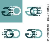 go letters logo with accent... | Shutterstock .eps vector #1013448517