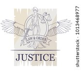 femida  lady of justice. lady... | Shutterstock .eps vector #1013468977