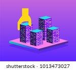 real estate building concept.... | Shutterstock .eps vector #1013473027