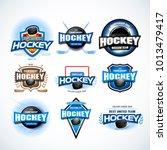 hockey sport team logotype... | Shutterstock .eps vector #1013479417