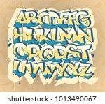 hip hop graffiti font  vector...   Shutterstock .eps vector #1013490067