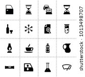 glass icons. vector collection...