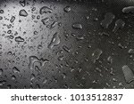 water droplets on metal once...