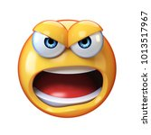 angry emoji shouting isolated... | Shutterstock . vector #1013517967