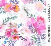 seamless summer pattern with... | Shutterstock . vector #1013520277