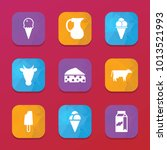 dairy icons. vector collection...