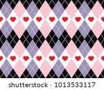 valentine's day argyle seamless ...   Shutterstock .eps vector #1013533117