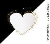 golden heart vector banner on... | Shutterstock .eps vector #1013535523