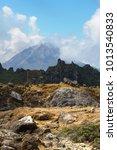 Small photo of Landscape in caldera of volcano Sibayak ,North Sumatra,Indonesia