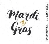 mardi gras calligraphic... | Shutterstock .eps vector #1013541667