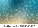 light blue  yellow vector... | Shutterstock .eps vector #1013545387