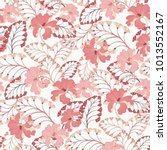 pink oriental seamless vector... | Shutterstock .eps vector #1013552167