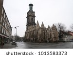Stock photo view of hannover old historical german city 1013583373