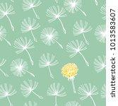 doodle hand drawn dandelion... | Shutterstock .eps vector #1013583607