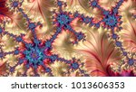 abstract computer generated... | Shutterstock . vector #1013606353