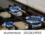 natural gas burning on kitchen... | Shutterstock . vector #1013614903