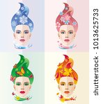 vector abstract image on the... | Shutterstock .eps vector #1013625733