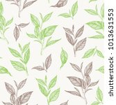 tea seamless pattern. hand... | Shutterstock .eps vector #1013631553