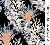 watercolor seamless pattern... | Shutterstock .eps vector #1013634883