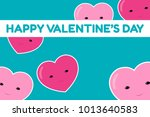 happy valentine's day banner.... | Shutterstock .eps vector #1013640583