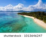 coron palawan beach aerial view | Shutterstock . vector #1013646247