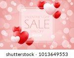 valentines day sale banner.... | Shutterstock .eps vector #1013649553