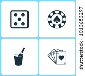 vector illustration set casino... | Shutterstock .eps vector #1013653297