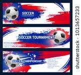 soccer tournament or football... | Shutterstock .eps vector #1013657233