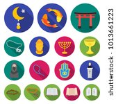 religion and belief flat icons... | Shutterstock . vector #1013661223