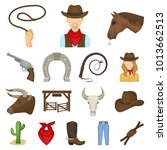 rodeo  competition cartoon... | Shutterstock . vector #1013662513